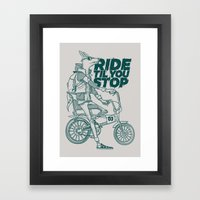 Ride Or Don't! Framed Art Print