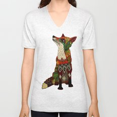 fox love juniper Unisex V-Neck