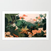 Creature Jungle Art Print