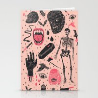 deer Stationery Cards featuring Whole Lotta Horror by Josh Ln