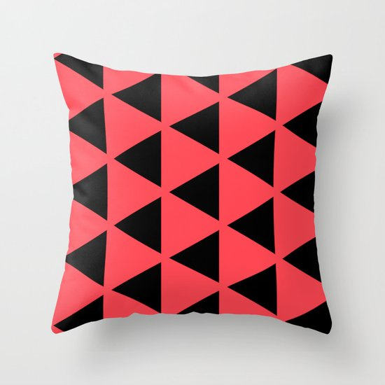Sleyer Black on Pink Pattern Throw Pillow