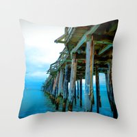 Capitola Pier Throw Pillow