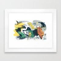 Animals in Nature Framed Art Print