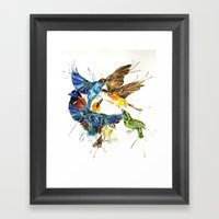 Birds Galore Framed Art Print