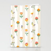 Paper Cut Flowers Stationery Cards