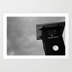 B&W Clock Tower Art Print