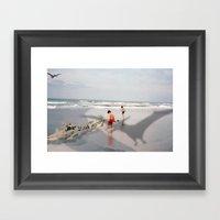 THE BEACH-Suburban Monst… Framed Art Print