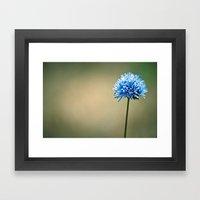 Blue Cotton Framed Art Print