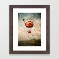 Tea For Two At Dusk Framed Art Print