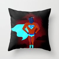 Look! Up In The Sky! Throw Pillow