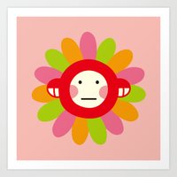Redmon Flower Art Print
