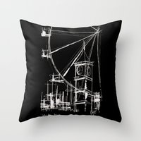Black London Throw Pillow