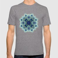 Blue & Green Yin Yang Mens Fitted Tee Tri-Grey SMALL