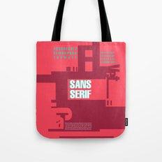 Sans Serif  Tote Bag