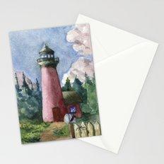 Cozy Lighthouse Stationery Cards