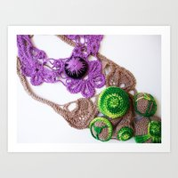 Lilac Lime Romanian Poin… Art Print