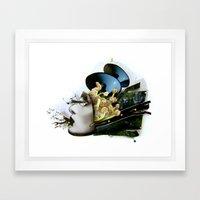 AiVee portrait | Collage Framed Art Print