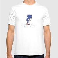 Sad Sonic The Hedgehog I… Mens Fitted Tee White SMALL