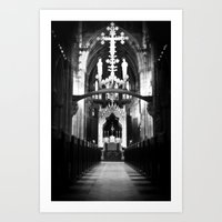 Cathedral in England Art Print