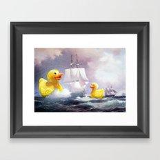 Terror On The High Seas … Framed Art Print