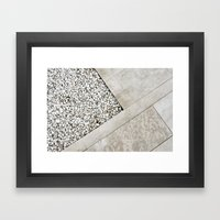 abstract architecture detail pavement Framed Art Print