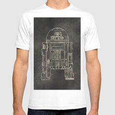 R2D2 Mens Fitted Tee SMALL White