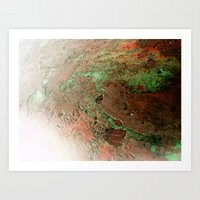 A Quick Visit To Mars! Art Print