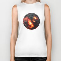 Flaming Seashell 4 Biker Tank