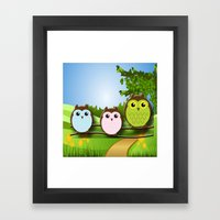 Country Owls Framed Art Print