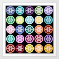 Colorful Snowflake Print… Art Print