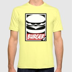 Obey Burger Mens Fitted Tee Lemon SMALL