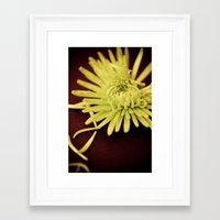 The Art of Letting Go ~ Chartreuse version Framed Art Print