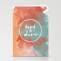 Follow Your Heart & Chas… Stationery Cards