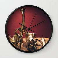 Golden Menagerie Wall Clock