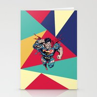 superman Stationery Cards featuring Superman by Mari Vasilescu