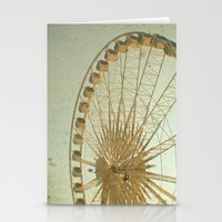 Golden Wheel Stationery Cards