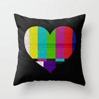 Heart TV Throw Pillow
