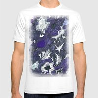 Snow Flurry Mens Fitted Tee White SMALL