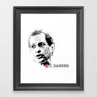 Vote Carlos Danger Framed Art Print