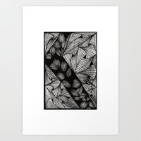 Drawing 3 White Art Print