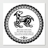 Mary Had A Little Lamb Canvas Print