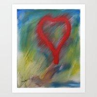 A full heart Art Print