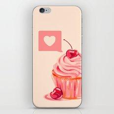 Cherry Heart Cupcake iPhone & iPod Skin