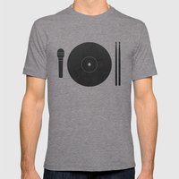 hungry to rock Mens Fitted Tee Tri-Grey SMALL