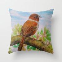 A Brown Bird Throw Pillow