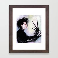Edward Scissorhands: The story of an uncommonly gentle man. Framed Art Print