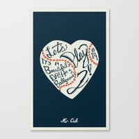 Mr. Cub Canvas Print