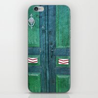 Old Green Door iPhone & iPod Skin