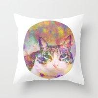 Dog, The Cat Throw Pillow