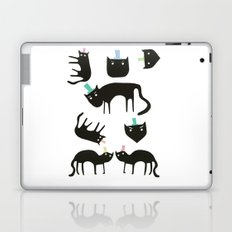Little cats in colourful hats Laptop & iPad Skin